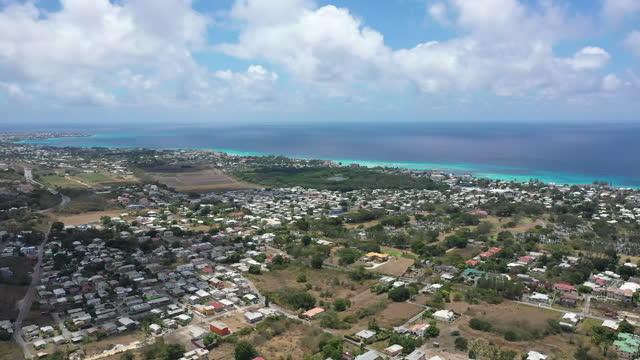 Drone shot of Bridgetown, Barbados video