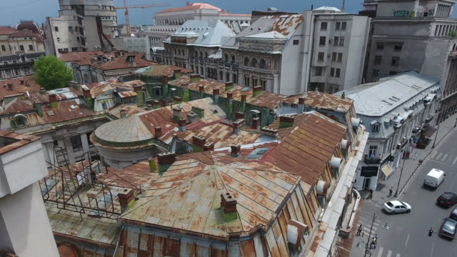 4K Drone Shot Of Bucharest Center video