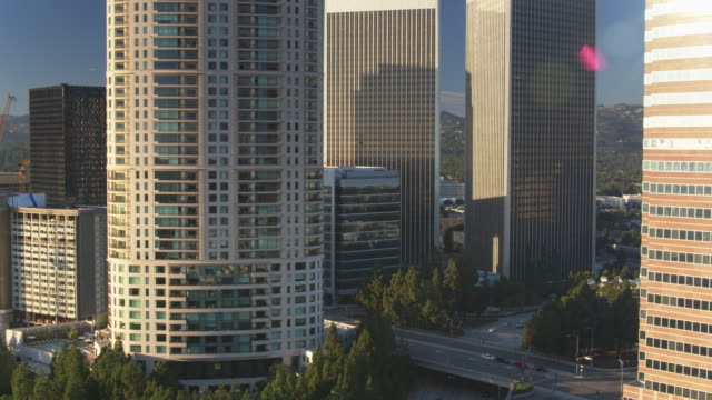 Drone Shot of Century City Including Building Under Construction video