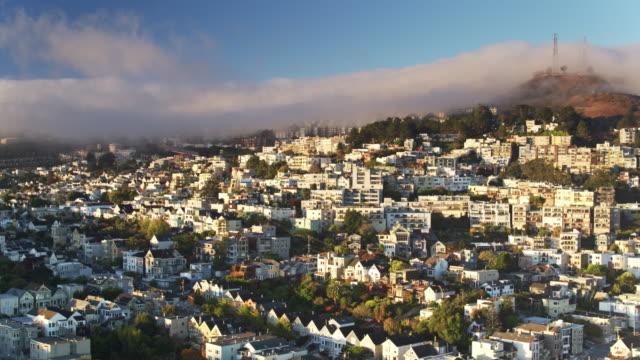 Drone Shot of Eureka Valley, San Francisco video