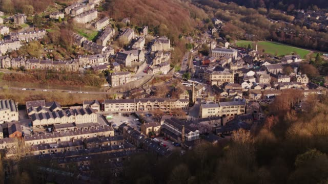 Drone Shot of Hebden Bridge, West Yorkshire video