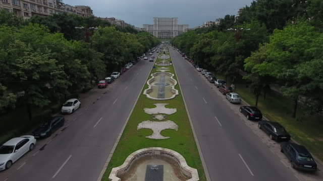 4K Drone Shot Of The Palace Of The Parliament video