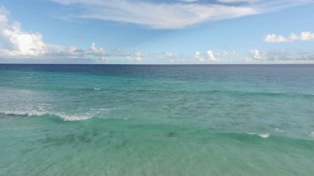 Drone shot over a Caribbean Beach video