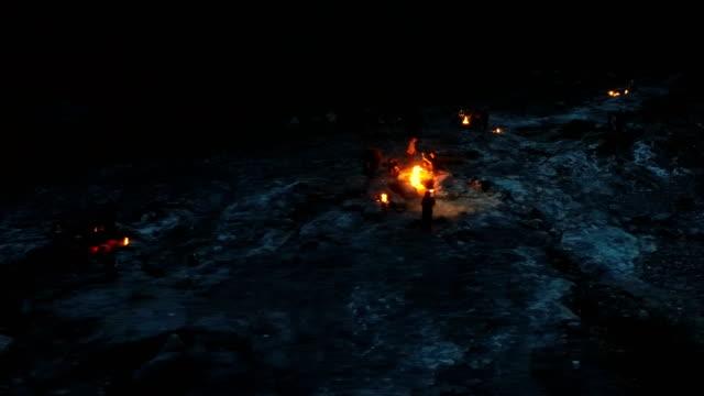 Drone Shots of Mount Chimera - Eternal Flames - Greek Mythology - Yanartaş / Turkey