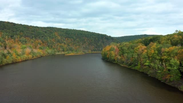 Drone takes off from Upper Delaware river