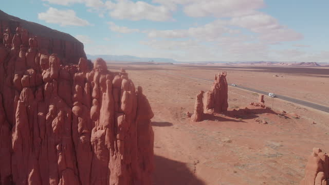 Drone Video Clip Of A Spectacular View Of Baby Rocks Monument, Baby Rocks, Arizona