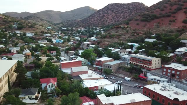 Drone video of downtown Bisbee Arizona