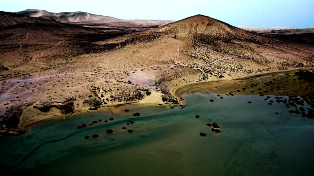 HD Drone view of coastline