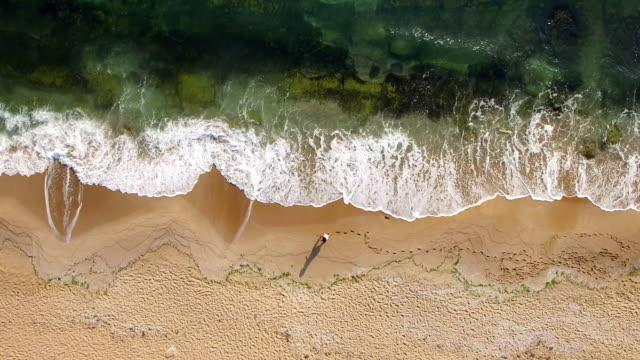 4K Drone view of coastline