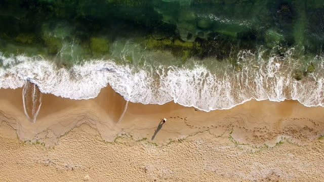 4k drone view of coastline - aerial beach stock videos & royalty-free footage