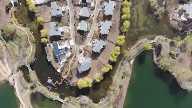 Drone View of Villa Residential Area