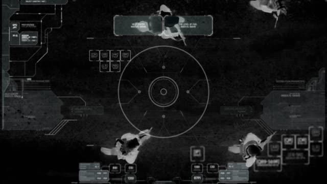 무기로 걷는 테러 분 대의 열 밤 비전 보기 무인 항공기 - 무인항공기 스톡 비디오 및 b-롤 화면