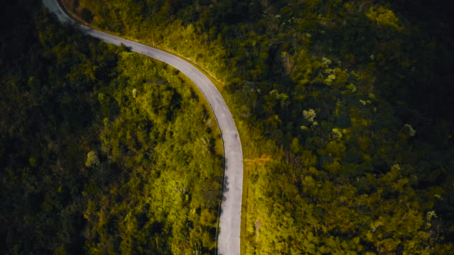 drones: an aerial road trip - passo montano video stock e b–roll