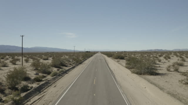 Droning Over Route 66 In 4k Near Amboy California video