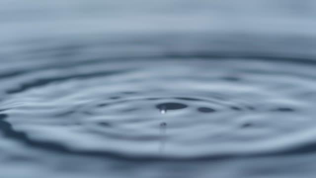 波打つ水に落ちる液滴 - 波紋点の映像素材/bロール