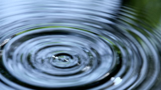 Droplets Fall into Water video