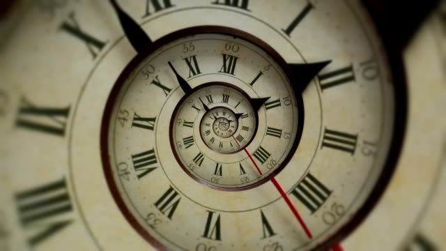 Droste effect clock Droste effect clock wound stock videos & royalty-free footage
