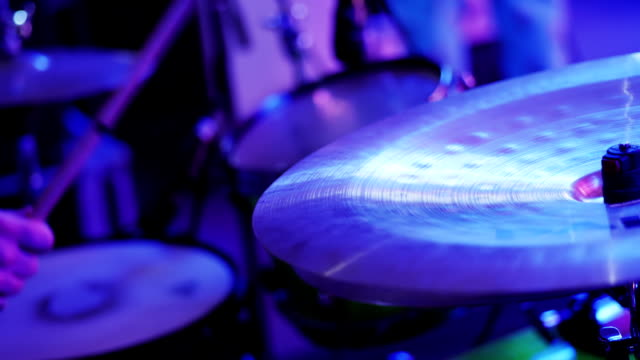 Drummer Hand Playing Drum Plate Drummer Hand Playing Drum Plate on Rock Concert. Closeup grooved stock videos & royalty-free footage