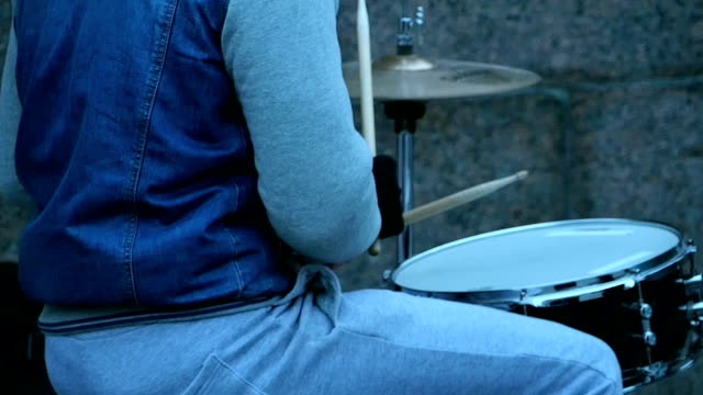 drummer is playing video