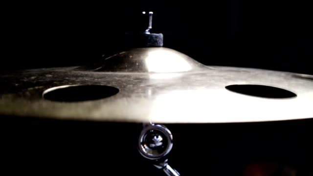 Drummer Playing Drums in Music Studio video
