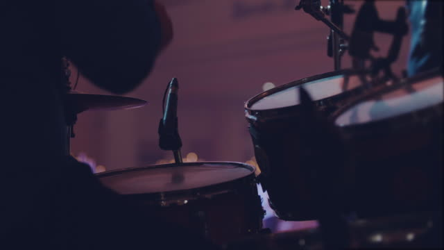 Drummer playing drums Drummer Taking Solo In Concert stick plant part stock videos & royalty-free footage