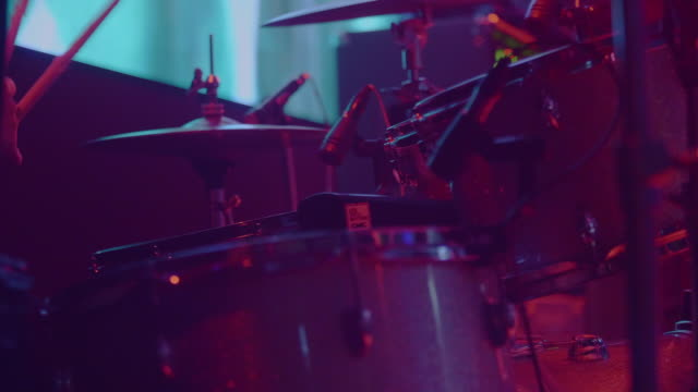 Drummer playing Musician plays the drums close up rock music stock videos & royalty-free footage