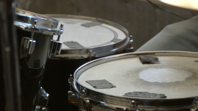 Drummer plays the drum video