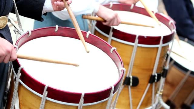 tamburi primo piano - stile del xix secolo video stock e b–roll