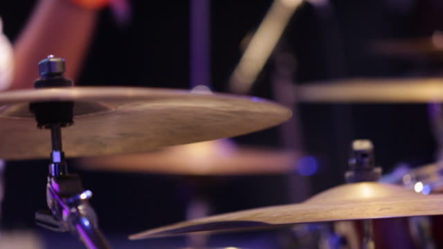 drums cymbal close up - musician stock videos and b-roll footage