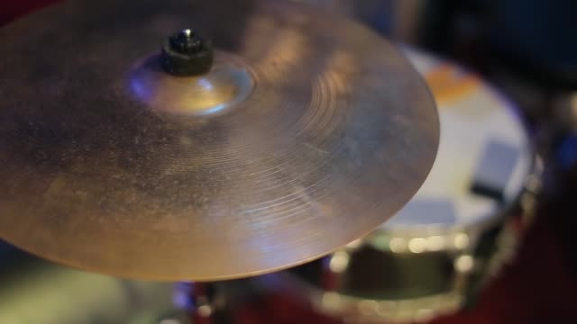 Drums stand on stage before a concert or orchestra performance video