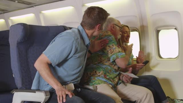 Drunken passenger on plane video