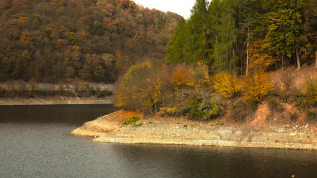 Dry water dam. Lack of water in reservoirs video