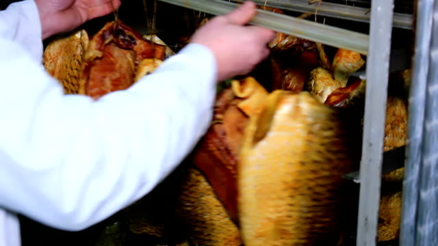 stockvideo's en b-roll-footage met drying fish carp - carp