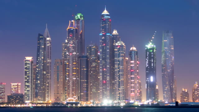 Dubai by night timelapse video