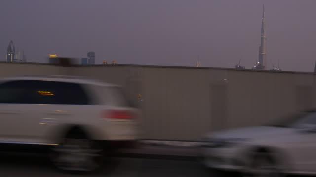 dubai city al wasl road trip traffic crossroad downtown  4k united arab emirates video