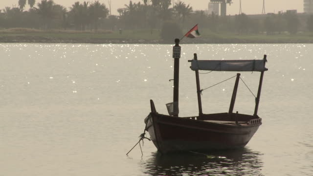 dubai creek - passenger craft stock videos & royalty-free footage