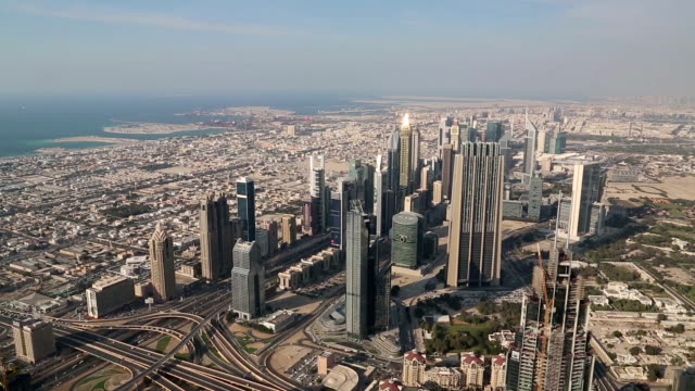 Dubai downtown and Persian Gulf, United Arab Emirates video