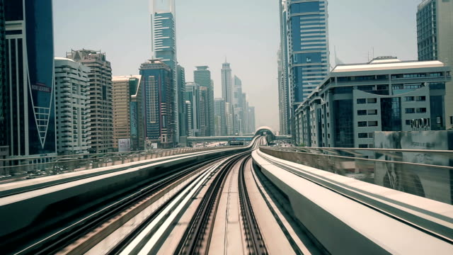 Dubai elevated Rail Metro System video