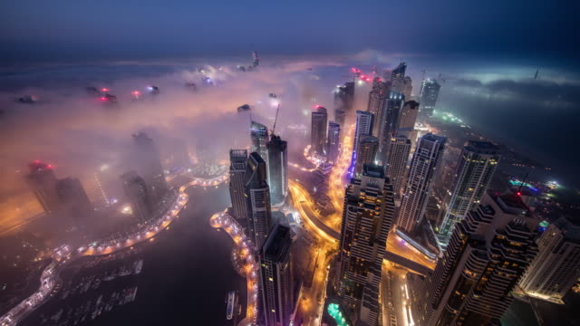 dubai fog - dubai architecture stock videos & royalty-free footage