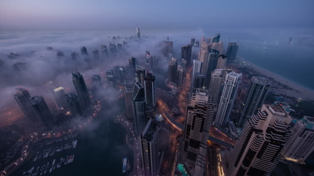 Dubai Marina Fog video