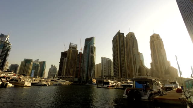 Dubai Marina harbor timelapse video video