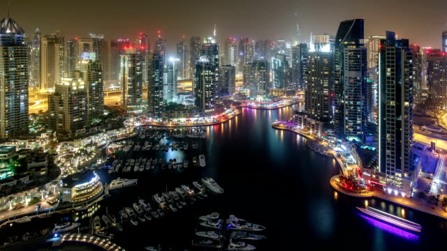 Dubai Marina Time Lapse video