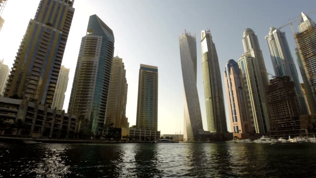 Dubai Marina timelapse video video