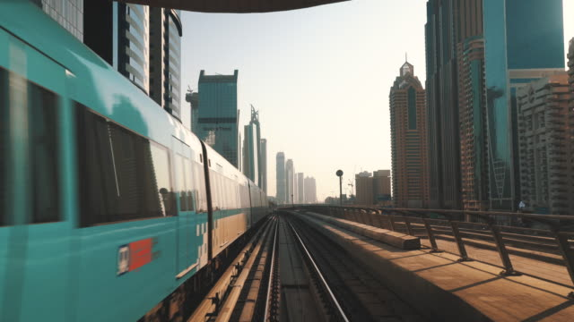 dubai metro transportation - dubai architecture stock videos & royalty-free footage