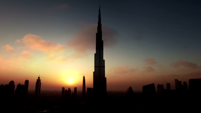 Dubai Skyline at sunset video