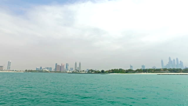 Dubai skyline from the sea video