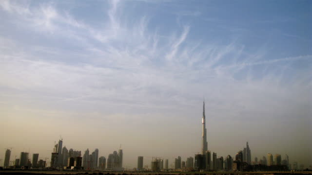 Dubai skyline timelapse video