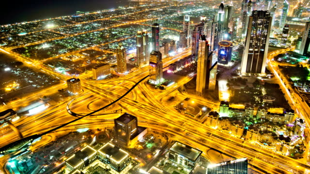 Dubai Traffic from Burj Khalifa video