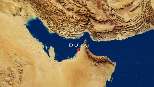 Dubai - United Arab Emirates Zoom In From Space video