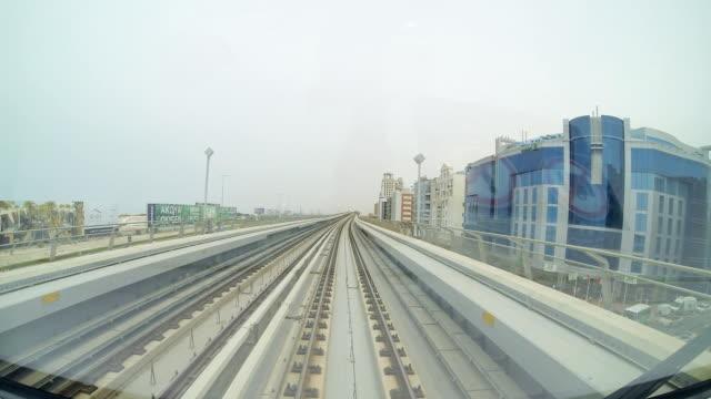 T/L POV Dubai's metro